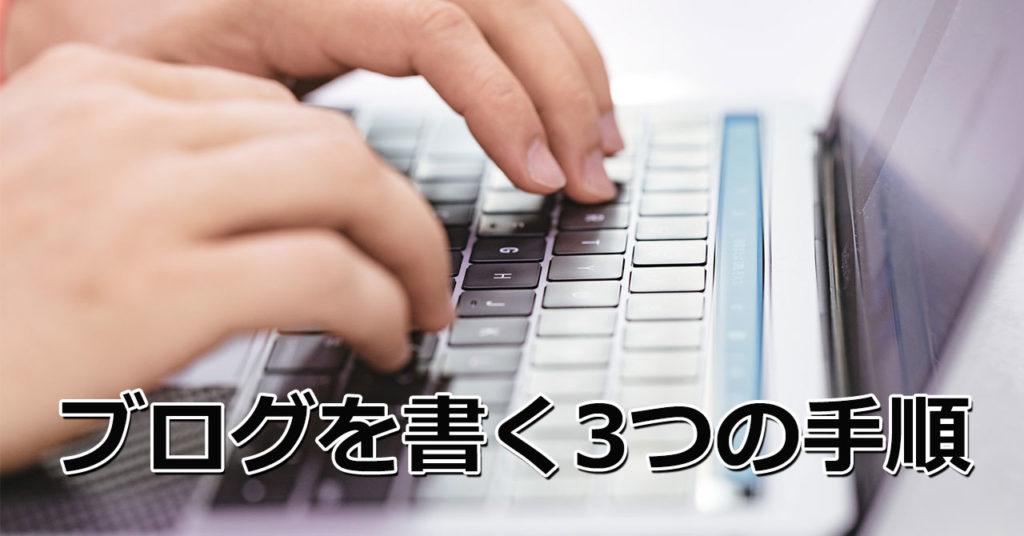 ブログを書く3つの手順